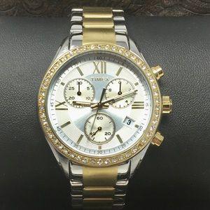 Timex Two Tone Womens Chrono Watch